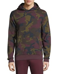 Wesc Mike Camo Double Layered Hoodie Port Red