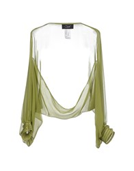 Clips Topwear Shrugs Women Military Green