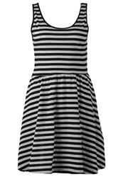 Ltb Arianna Jersey Dress Grey Mel Black