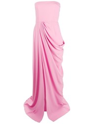 Alex Perry Front Ruched Evening Dress Pink