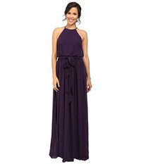 Donna Morgan Alana Drape Blouson Gown Amethyst Women's Dress Purple