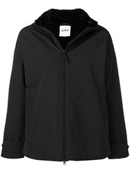 Aspesi Drop Shoulder Zipped Jacket Black
