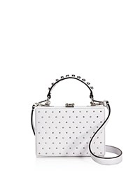 Nasty Gal Girl Boxx Trunk Studded Crossbody 100 Exclusive White Silver