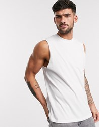 New Look Sleeveless Tank In White