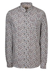 Pretty Green Woodland Long Sleeve Shirt Navy