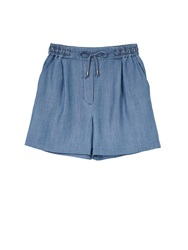 Karl Lagerfeld Maria Chambray Shorts Blue Blue