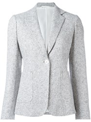 Kiton Two Button Blazer White