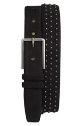 Mezlan Studded Suede Belt