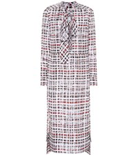 Burberry Scribble Check Silk Dress Multicoloured