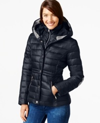 Nautica Layered Puffer Coat