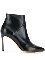Francesco Russo Pointed Ankle Boots Black
