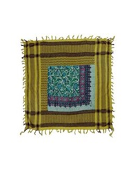 Daniele Alessandrini Square Scarves Acid Green