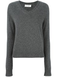 Faith Connexion V Neck Jumper Grey