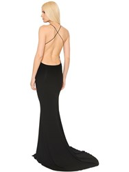 Alexandre Vauthier Open Back Stretch Jersey Dress