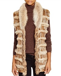 Moon And Meadow Rabbit Coyote Fur Vest Bloomingdale's Exclusive