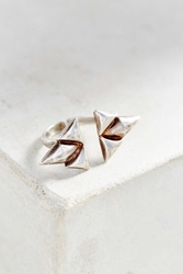 Bing Bang Double Trident Ring Silver