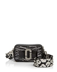 Marc Jacobs Snapshot Zebra Print Bow Camera Bag Black Silver