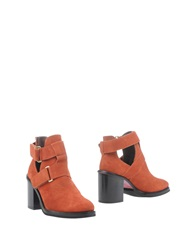 Cuple Ankle Boots Rust