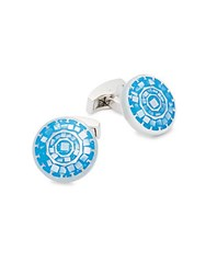 Ike By Ike Behar Mother Of Pearl Geometric Cuff Links Blue