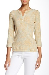 J. Mclaughlin Marcy Printed Henley Yellow