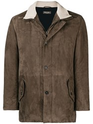 Loro Piana High Neck Coat Brown