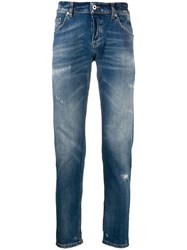 Dondup Distressed Slim Fit Jeans Blue