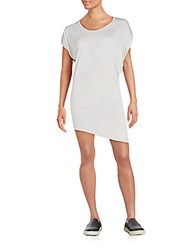 Haute Hippie Ruched Asymmetrical Tee Dress Light Heather Grey