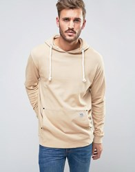 Redefined Rebel Hoodie With Oversized Pocket Sand Beige