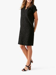 Pure Collection Broderie Dress Black