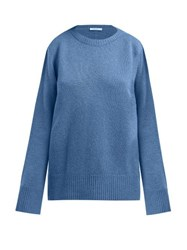 The Row Sibel Wool And Cashmere Blend Sweater Blue