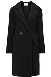 Iro Brannon Linen And Wool Blend Coat Black