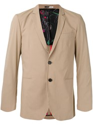 Paul Smith Ps By Two Button Blazer Nude Neutrals