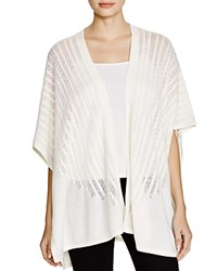 Magaschoni Cable Knit Cashmere Open Cardigan Blanc
