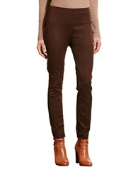 Lauren Ralph Lauren Petite Stretch Cotton Skinny Pants Chocolate
