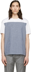 Kris Van Assche White Check Panel T Shirt