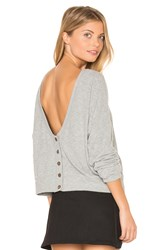 Project Social T Index Button Back Cardigan Grey