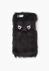 Missguided Black Angry Face Faux Fur Iphone 6 Case