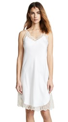 Flora Nikrooz Showstopper Charmeuse Chemise With Lace Ivory