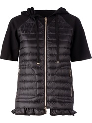 Moncler Padded Panel Hooded Top Black