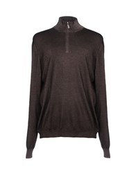 Gran Sasso Turtlenecks Dark Brown