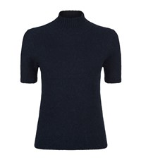 Maje Mano Angora Mix Turtle Neck Jumper Female Navy