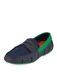 Swims Rubber Penny Loafer Water Shoes Navy Jolly Green Navy Jolly Green