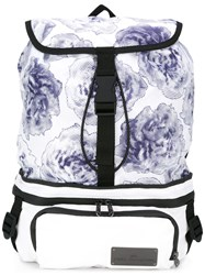 Adidas By Stella Mccartney Floral Print Backpack White