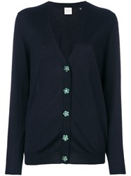 Paul Smith Classic Buttoned Cardigan Wool S Blue