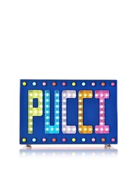 Emilio Pucci Signature Disco Clutch W Beads And Lights Blue