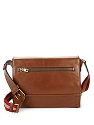 Bally Leather Crossbody Bag Brown
