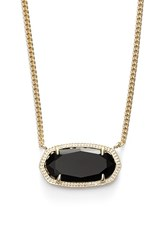 Women's Kendra Scott 'Dylan' Stone Pendant Necklace Black
