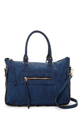 Urban Expressions Alessandra Faux Leather Satchel Blue