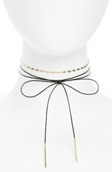 Topshop Women's Bow And Chain Choker