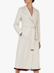 Ted Baker Gabella Wool Rich Tailored Coat Ivory